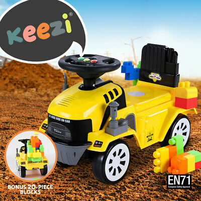 Keezi Kids Ride On Bulldozer Toy Car Loader Digger Tractor Excavator Christmas