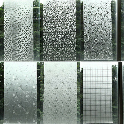 Waterproof PVC Privacy Frosted Home 40X100CM Bathroom Window Sticker Glass  Film. PVC Frosted Sticker Glass Privacy Shower Screen Window Cover Film
