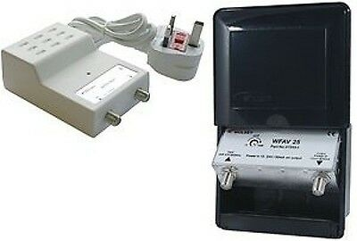 1 Way Aerial Masthead amp outdoor booster amplifier 12v powered (arial ariel)