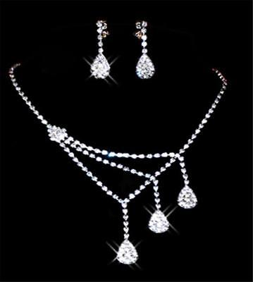 Unique Prom Jewelry sets Wedding Bridal Bridesmaid Necklace and Earrings