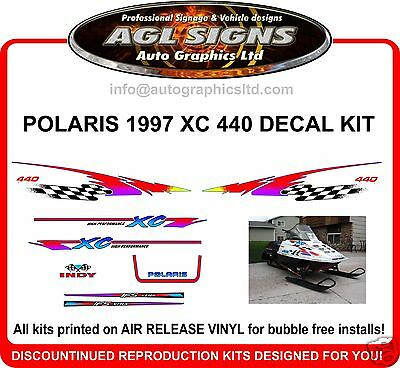 1997 POLARIS INDY XC 440 DECAL KIT , shroud  graphics Reproductions