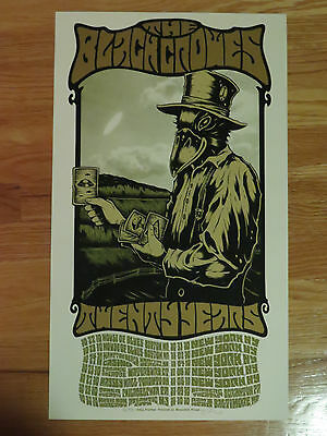 2010 THE BLACK CROWES Twenty Years Concert Poster LIMITED ED Artist Proof 30/50