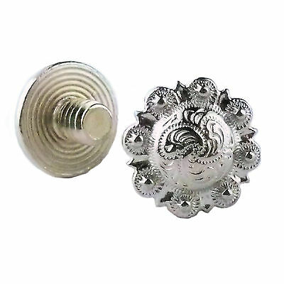 "Chicago Screws Concho Nickel 1/4"" 100 Pack 3306-11 by Stecksstore"