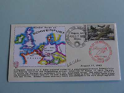WWII FDC #61 Britain Germany Bomber Raids on Schweinfurt 1943 * 50th Anniversary