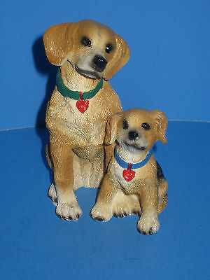 Figurine Beagle Dog With Pup By Young's China Excellent Condition!