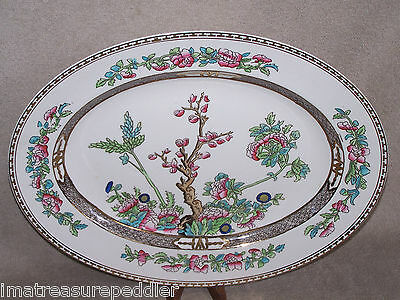 """Vintage Alfred Meakin The India Tree Oval Platter 16 5/8"""""""