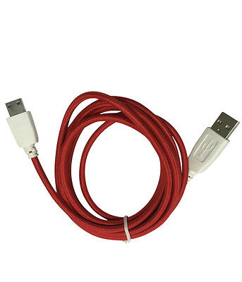5 Colors - Braided Data Sync Charger USB Cable for Nabi Fuhu XD JR Kid HD Tablet