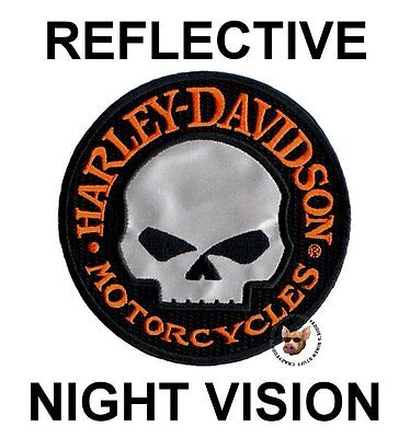 Harley Davidson Willie G Skull Vest Patch ** Reflective **  Night Vision