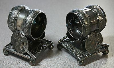 Antique Pair Silverplate Napkin Rings Holders * Rogers & Bros./Meridian #208