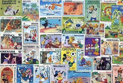 Packet of 400 All Different World Disney stamps(2015/11/14#03)