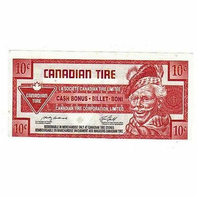 2008 10c CTC CANADIAN TIRE MONEY NOTE coupon Rare Cut off center 0362454101