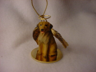 RHODESIAN RIDGEBACK dog ANGEL Ornament HAND PAINTED resin Figurine Christmas pup