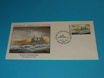 WWII FDC W54-1 Barents Sea Germany Hitler 1942 * 50th Anniversary