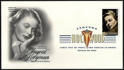 Ingrid Bergman - Legends Of Hollywood - First Day Cover