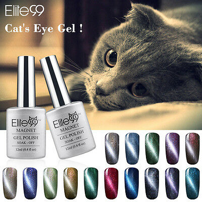 Elite99 Soak Off 3D Cat Eye Line Gel Polish UV LED Magnetic Magic Nail Art 12ml
