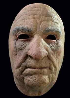 Old Man Face Mask Scary Creepy Fancy Dress Up Halloween Adult Costume Accessory