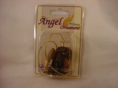 CHOCOLATE LAB dog ANGEL ORNAMENT Figurine NEW Christmas brown puppy LABRADOR