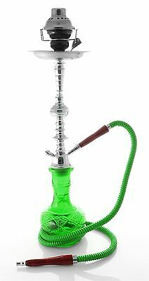"Best 1 hose 22"" Green Hookah shisha nargila bar narguile nargile glass Vase set"