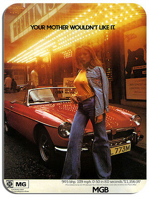MGB Car Advert Mouse Mat. Classic Car Mouse pad Vintage Brochure Advertising