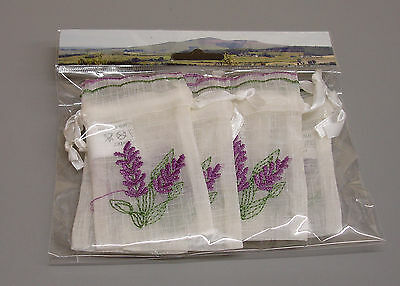 Wholesale 12 Packs of 6 New Lavender Embroidered Wedding Favour Bags ZL30