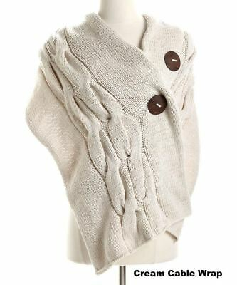 New Simone Layne Moby Wrap, Hand Knit Cream CABLE SWEATER Cotton Nursing Scarf