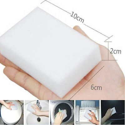 20PCS Cleaning Magic Sponge Eraser Melamine Cleaner Multi-functional Foam White