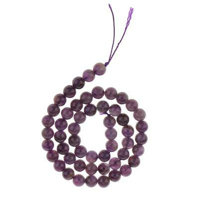 8mm Charm Amethyst Cabochon Gemstone Round Loose Beads Strand Jewelry Making 15""