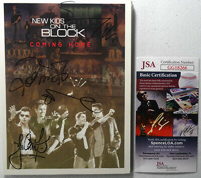 Signed New Kids On The Block Autographed Coming Home Dvd Nice!