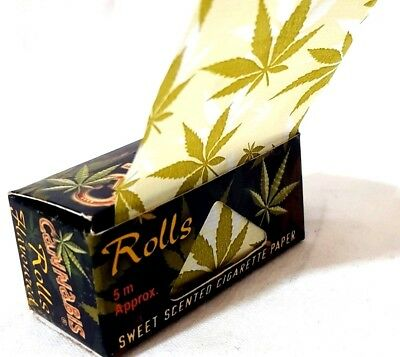 #14 Sweet Scent Weed Print Kingsize Slim Rolling Papers Rip 5m ROLL Rizla  B2GOF