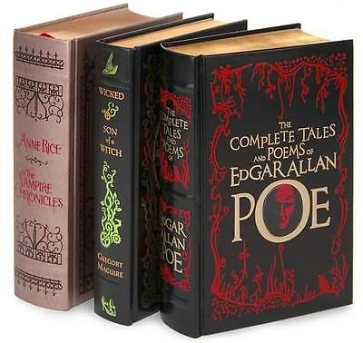 3 Leather Book Gift Setanne Rice ~ Vampire Chronicles ~ Complete Poe ~ Wicked