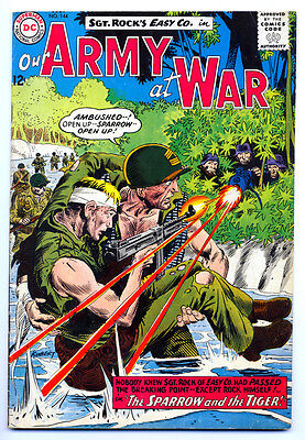 OUR ARMY AT WAR #144 VG, Joe Kubert c/a, Sgt. Rock's Easy Co., DC Comics 1964