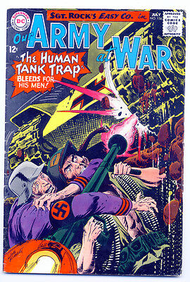 OUR ARMY AT WAR #156 VG, Joe Kubert c/a, writing inside, DC Comics 1965