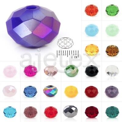 5040 72pcs Crystal Czech Spacer Glass Beads Rondelle Faceted fit Jewelry Making