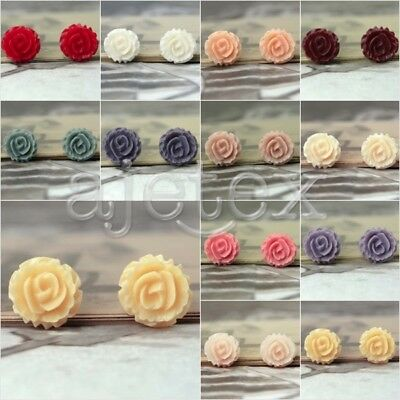 New Resin Lucite Flower Floral Cameo Flatbacks fit Cabochon Setting 26x26mm