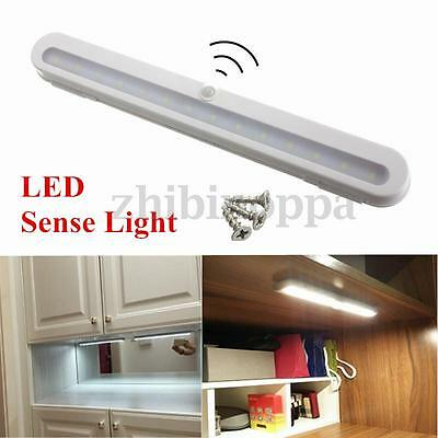 Lot 14 LED Adjustable Wireless PIR Motion Sensor Cabinet Wall Battery Light Lamp