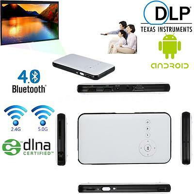 Portable Mini LED Full HD 1080P Bluetooth DLP Projector for Android TV BOX I6DR