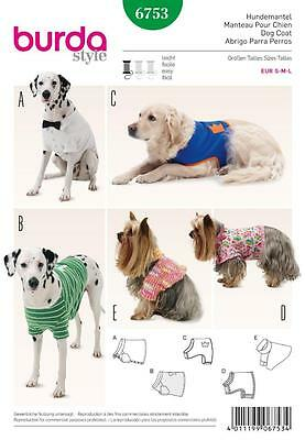 Burda Sewing Pattern Pet Clothing Dog  6753