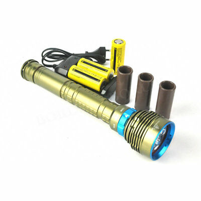 30000LM 7x XM-LL2 LED Diving Flashlight Tauchlampe Taschenlampe Dive Lamp torch