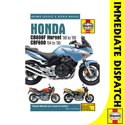 service manual honda cb600 98-03