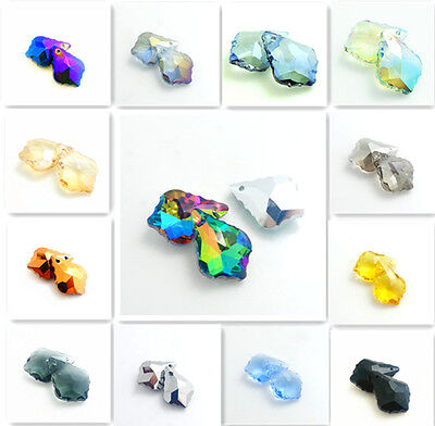 crystal elements baroque pendant glass beads 22x15mm #6090 Multicolor