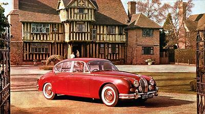 1963 Jaguar 3.8 Saloon Automobile Photo Poster zua4630-ZINLGE