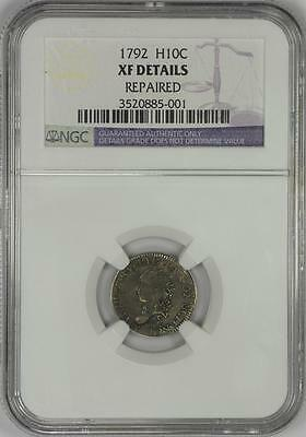 1792 H10C Bust Half Dime - NGC XF GENUINE FLOWING HAIR