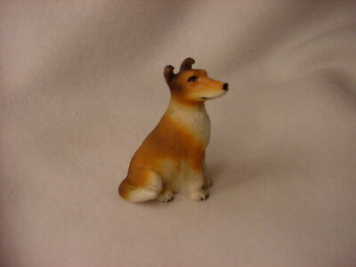 COLLIE Sable SMOOTH puppy TiNY Dog FIGURINE Resin MINIATURE Mini Statue NEW