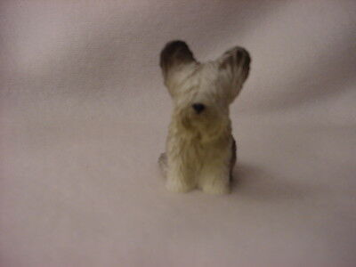 SKYE TERRIER puppy TiNY dog FIGURINE Resin MINIATURE Mini COLLECTIBLE sky Statue
