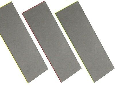 CT0825/4/3 3PC Diamond Knife Tools Sharpening Stone Set Fine Extra Fine & Coarse