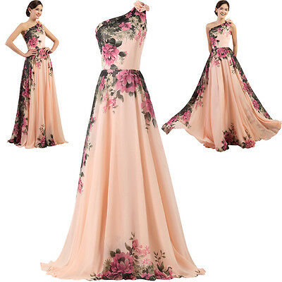 New Long Chiffon Bridesmaid Evening Formal Party Ball Gown Prom Dress Plus Size