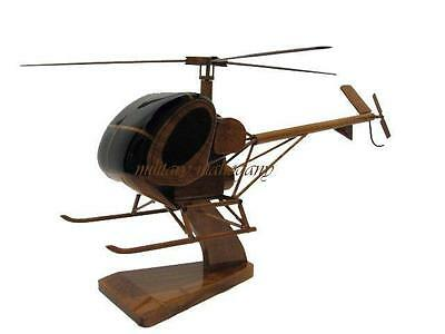 Hughes TH-55 Osage Sikorsky S-300 Military Helicopter Mahogany Wood Wooden Model