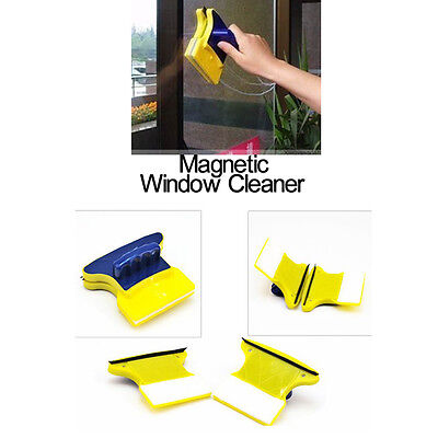 Magnetic Double Sided Glass Cars Home Window Surface Cleaner Wiper Brush Pad