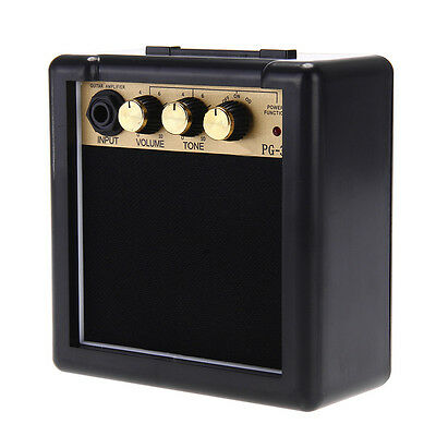 Mini Amp Practice Amplifier Speaker 3W for Electric Guitar