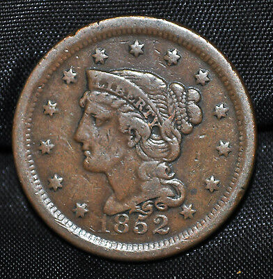 1852 USA Large One Cent VF-20